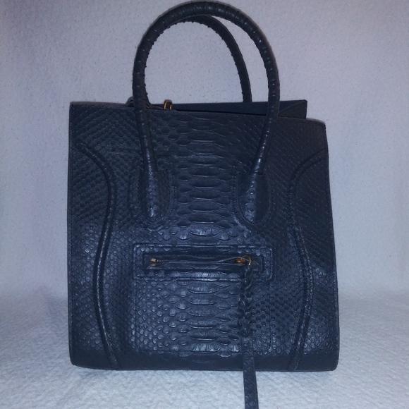 Celine Handbags - Celine Python Phantom Bag